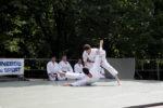 Démonstration de karaté France Shotokan au jardin du Luxembourg, à Paris, le 13 juin 2010.